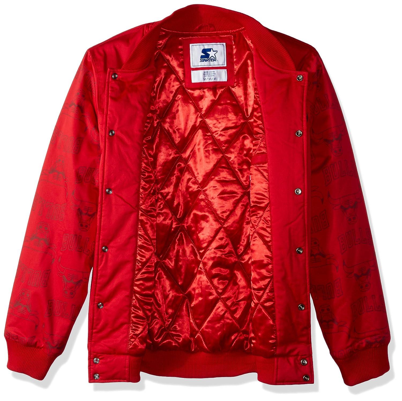 Starter Adult Men Varsity Bomber Jacket 4X Red