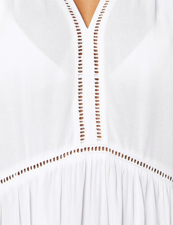 White Seafolly Tibetan Travel Ladder Detail Dress Cover Up