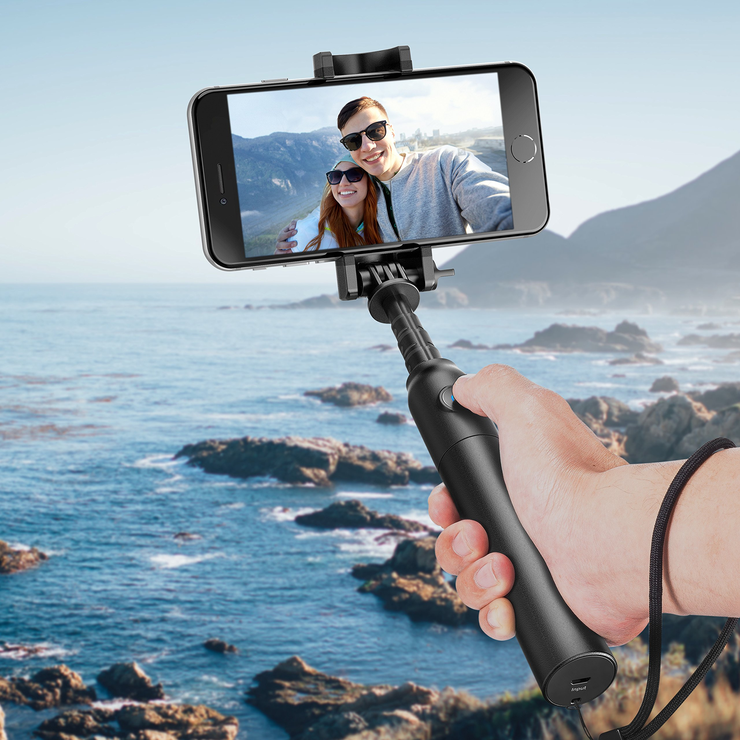 Selfie Stick, Anker Bluetooth Highly-Extendable and Compact Handheld Monopod with 20-Hour Battery Life for iPhone X/8/8 Plus/7/7 Plus/Se/6s/6/6 Plus, Galaxy S8/S7/S6/Edge, LG G5, Pixel 2 and More by Anker (Image #7)