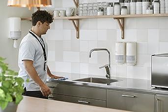Tork 559000 Dispensador de alimentación central Elevation/Soporte de papel mecha compatible con el sistema M2 / Blanco: Amazon.es: Industria, empresas y ciencia