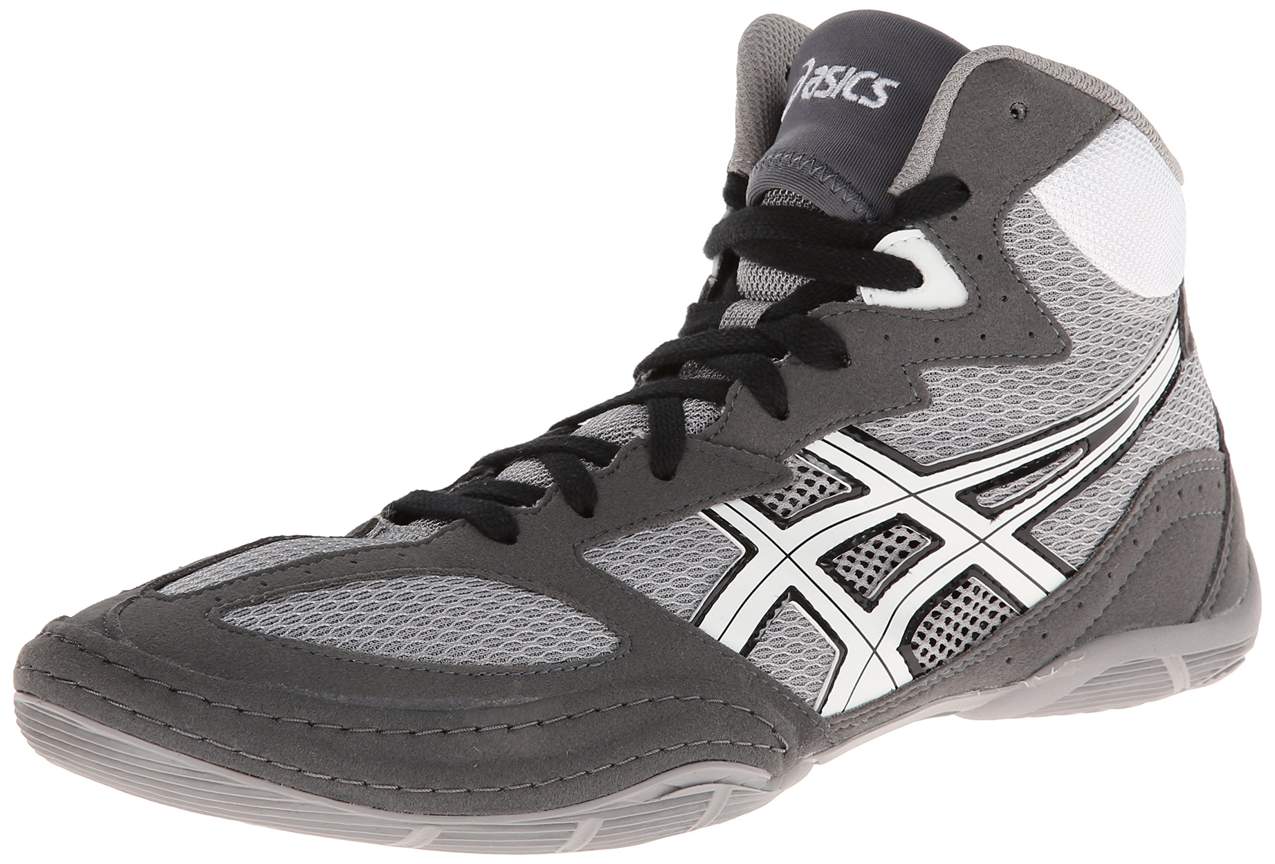 ASICS Men's Matflex 4 Wrestling Shoe,Granite/White/Black,8.5 M US