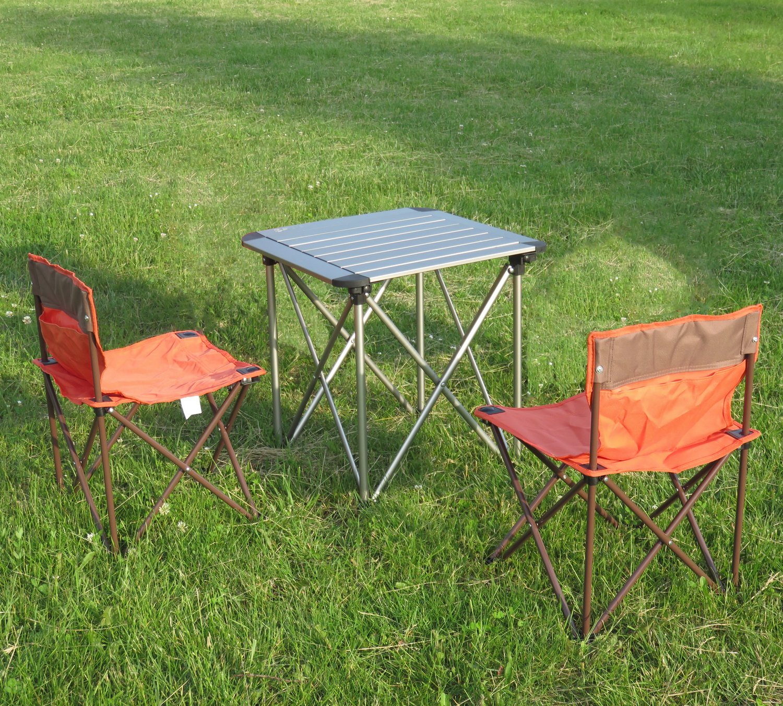 Campingmöbel 3-Set Campingtisch Klapptisch Campingstuhl Faltstuhl für Kinder/Jugendliche