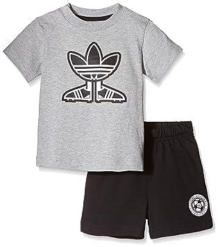 40747886b7bcd adidas Ensemble T-Shirt/Short Motif Chaussure de Foot pour Enfant 2 Ans Gris