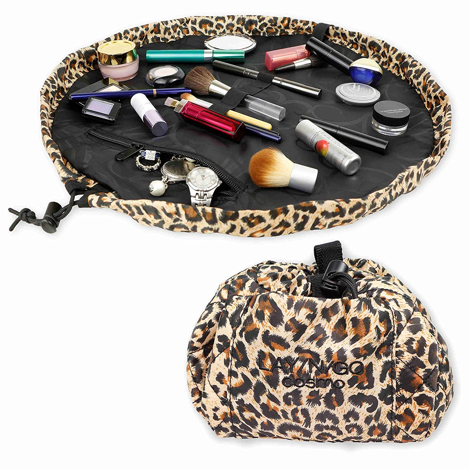 Lay-n-Go Cosmo 21 Cosmetic Bag, Leopard