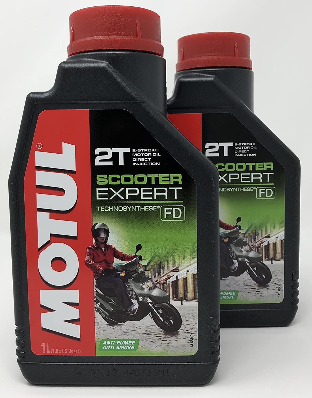 MOTUL Aceite Moto 2T Scooter Expert 2T, 2 Litros (2x1 lt): Amazon.es: Coche y moto