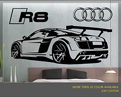 Jcm custom r8 gt racing sport car removable wall vinyl decal stickers 58