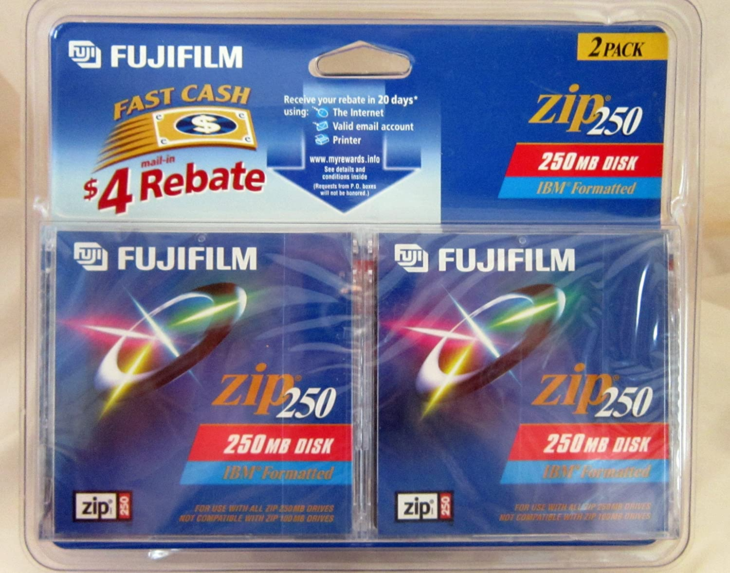 Fujifilm Zip 250 IBM (2-Pack) (Discontinued by Manufacturer) 25281006