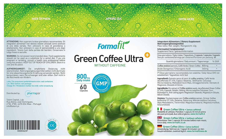 Green Coffee Ultra+ 800mg - 1 Envase - 60 Cápsulas: Amazon.es: Salud y cuidado personal