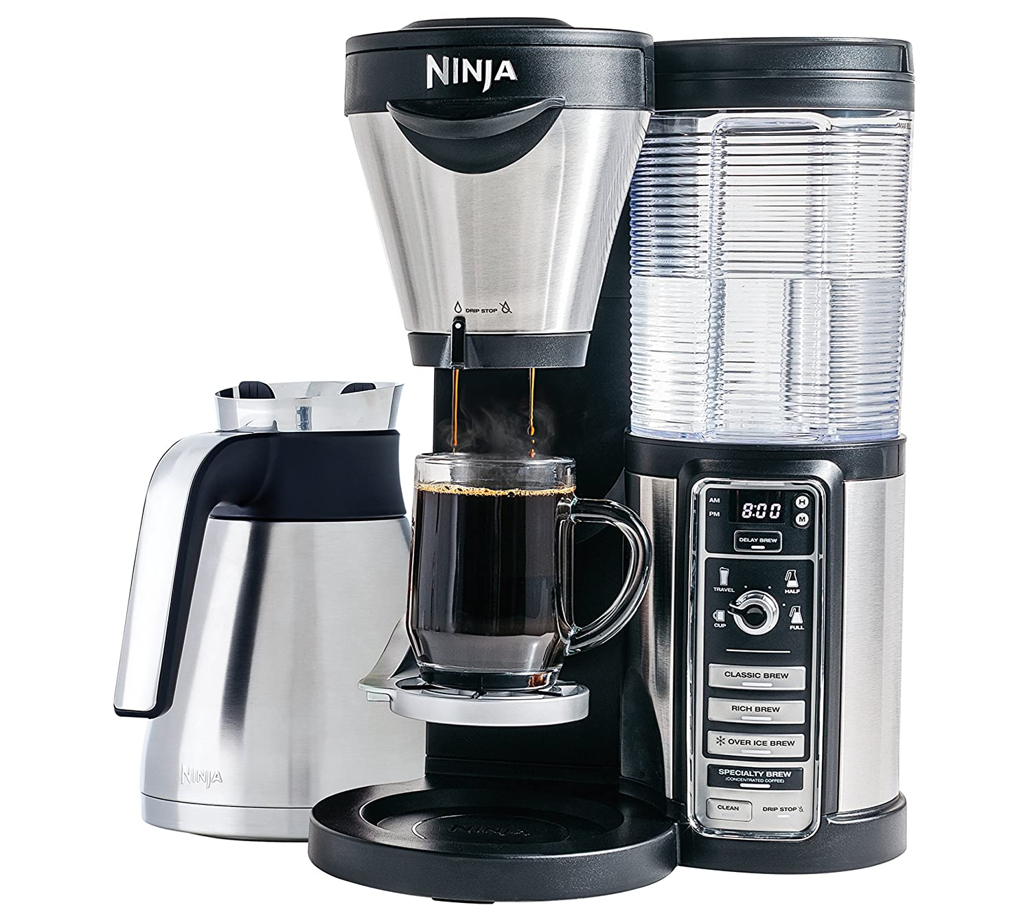 thermal coffee brewer with removable water reservoir