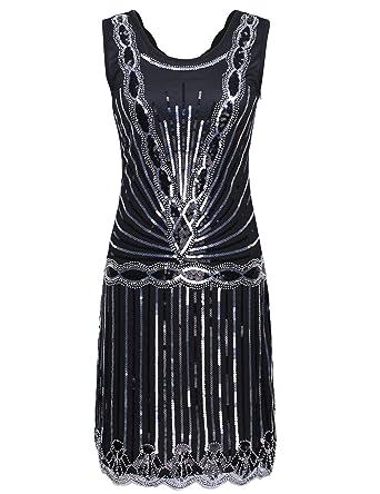 PrettyGuide Dame 1920er Jahrgang Downtown Art Deco Sequin Inspired ...