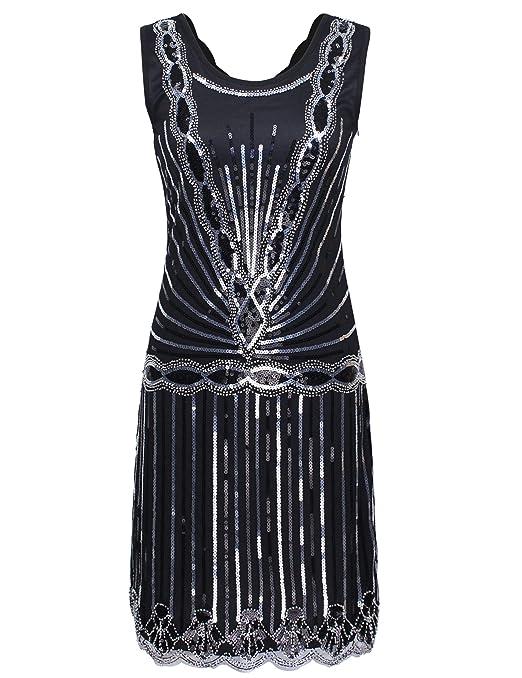 c593f95eb981 21 opinioni per PrettyGuide Donne 1920 Vintage Art Deco Paillettes Ispirato  Gatsby Vestito Con