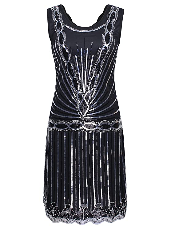 PrettyGuide Women 1920s Vintage Art Deco Sequin Inspired Gatsby ...