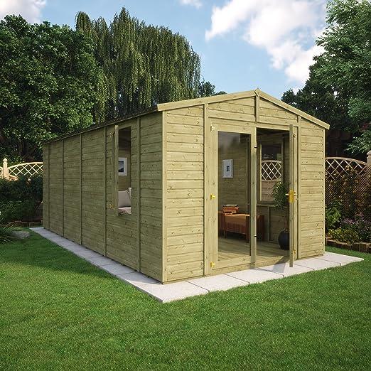 Jardín de madera de doble puerta para jardín, jardín, verano, 10 pies: Amazon.es: Jardín