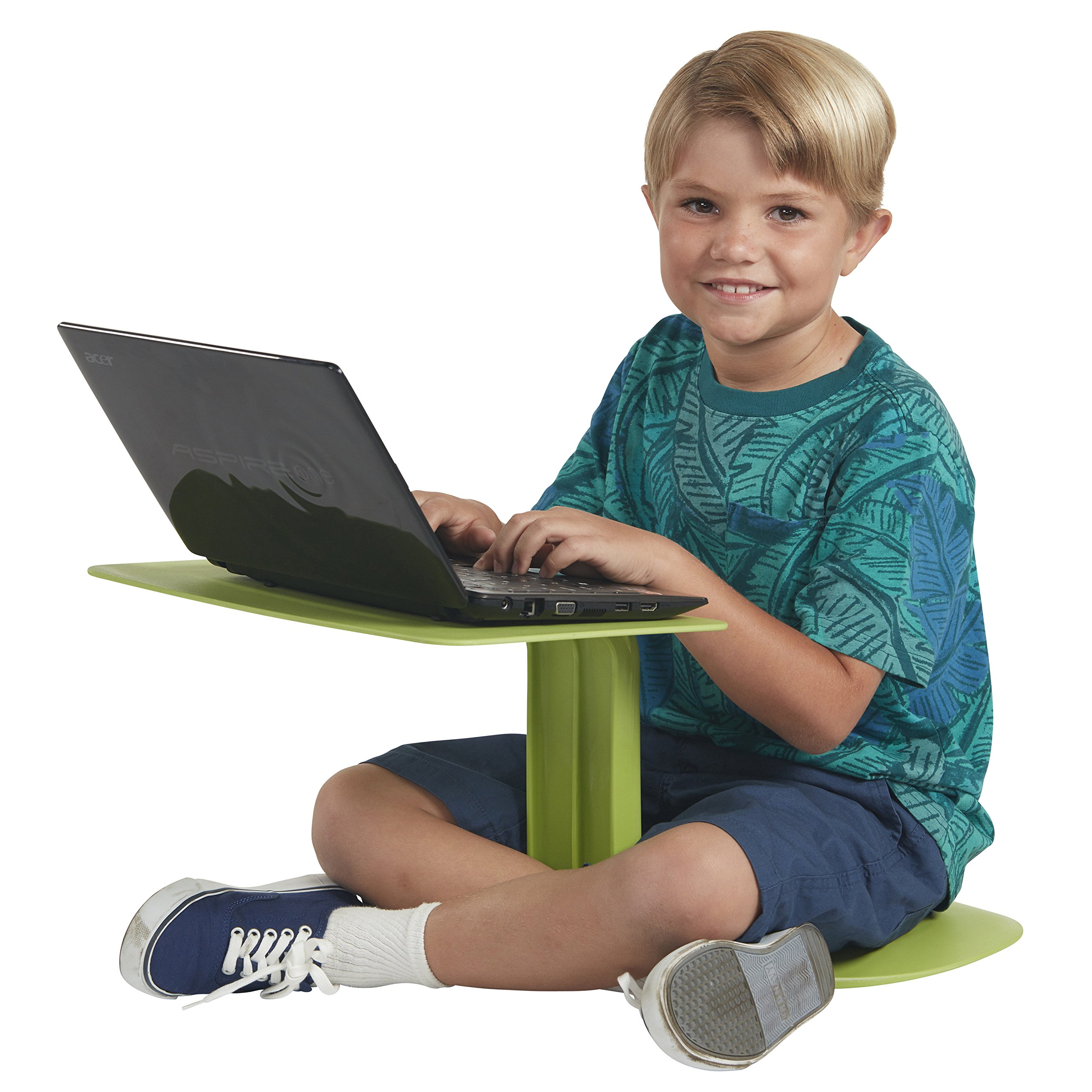 ECR4Kids The Surf Portable Lap Desk/Laptop Stand/Writing Table, Green by ECR4Kids
