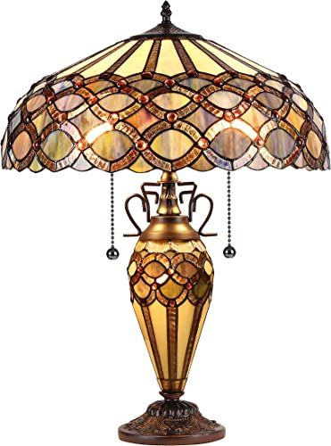 Chloe CH38435GG18-DT3 Prisma Tiffany-Style Table Lamp