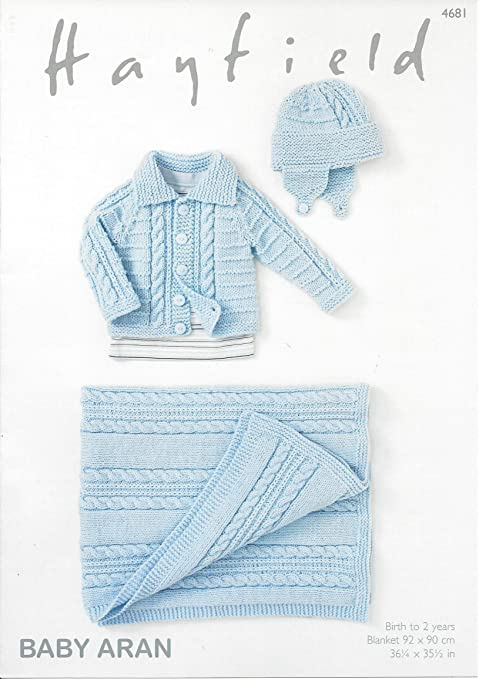 Sirdar/Hayfield Baby Aran 100g Knitting Pattern - 4681 Jacket ...