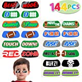 144 Football Face Tattoos; 12 Temporary Tattoo Sticker Designs; for Football Birthday Party Supplies, Sports Party Favors, School Classroom Football Theme Party Reward Prizes,
