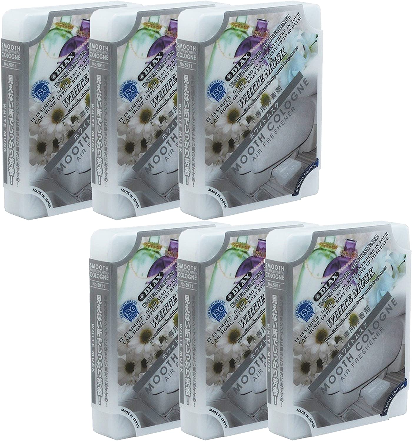 Smooth Cologne 6-Pack Home/Office/Car/auto White Musk Scent Luxury Air Freshener JDM Genuine Diax Japan