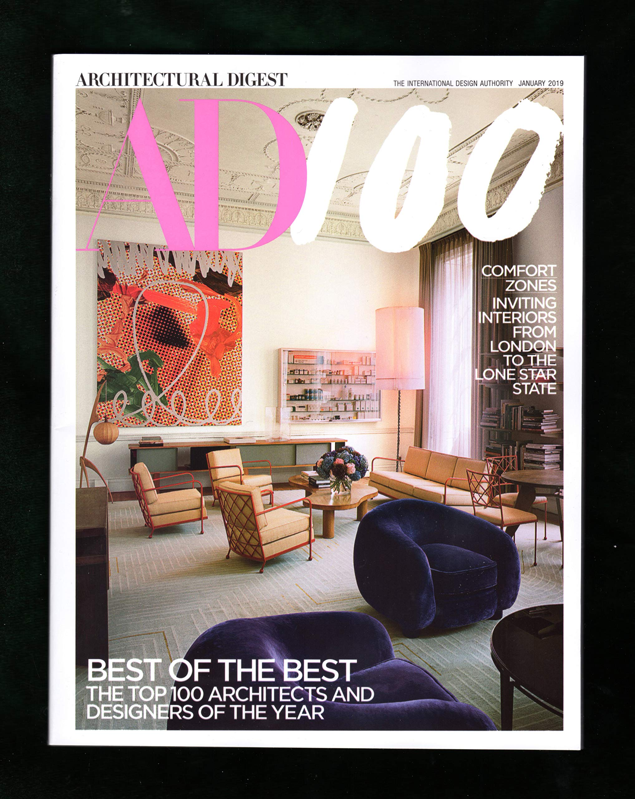 Architectural Digest Magazine January 2019 Ad 100 Best Of The Best The Top 100 Architects Designers Of The Year Amazon Com Books