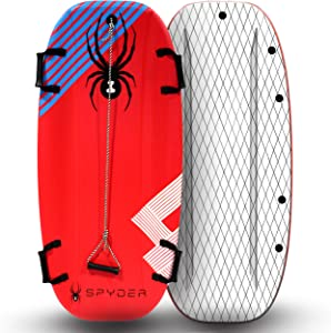 Spyder Snow Sled Shredder || Thermo Molded Foam Snow Sleds with Hardcover Bottoms || Ultimate Snow SLED for Kids and Adults (Snow Toys for Kids, Snow Sleds for Adults, Foam Snow Sled)