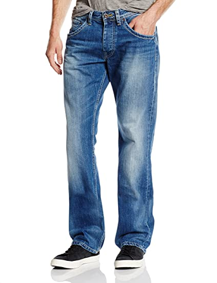 Pepe Jeans Men's Jeanius Relaxed Jeans, Blue(Denim N56), W28/L32