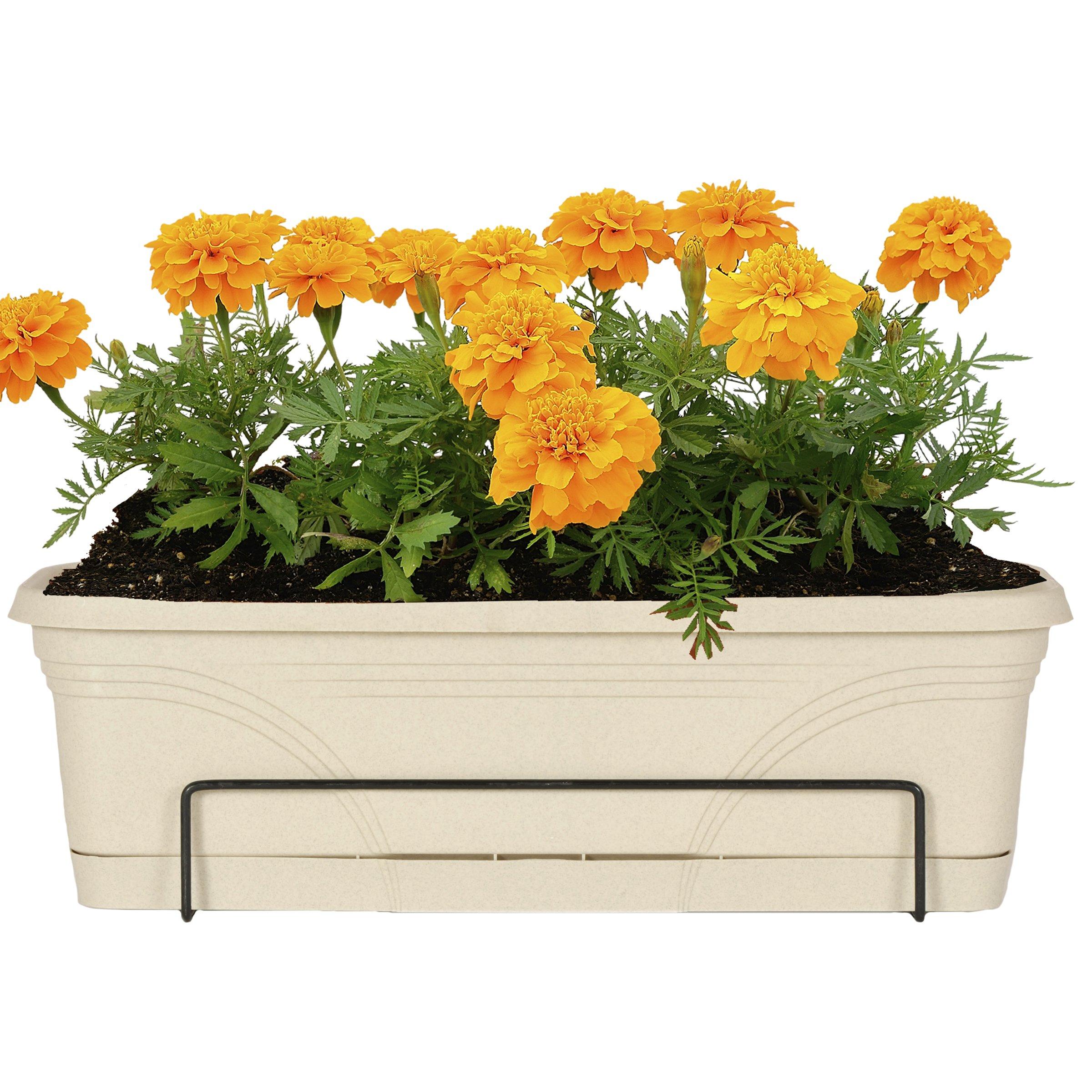 CobraCo 18-Inch to 36-Inch Black Adjustable Open-End Flower Box Holder FOE26-B