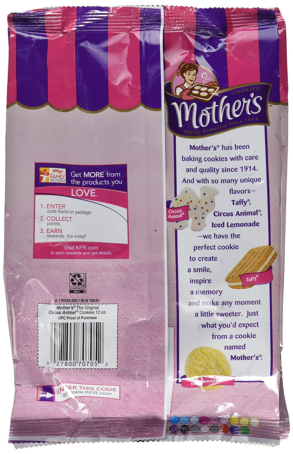 Amazon.com: Mothers, Circus Animal Cookies, Frosted, 12oz Bag (Pack of 4)