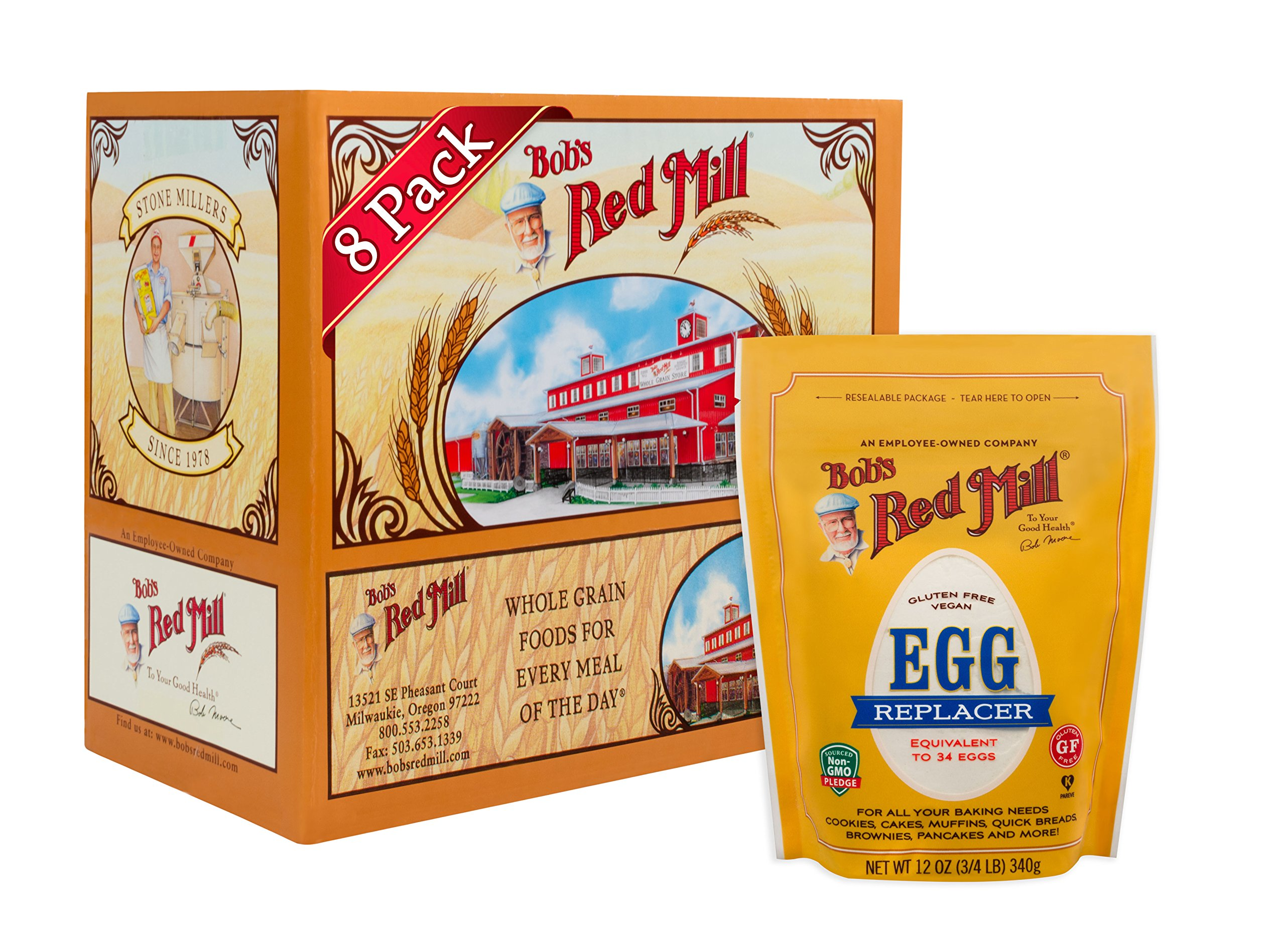 Bob's Red Mill GF Egg Replacer, 12-ounce (Pack of 8)