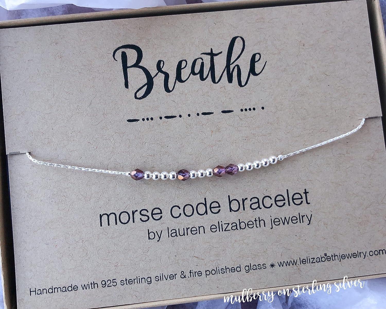 CUSTOM NAME Morse Code Bracelet \u2022 Personalize a Name on Bracelet for Mom Baby/'s Name Her Name His Name \u2022 Mother Grandma Christmas Gift