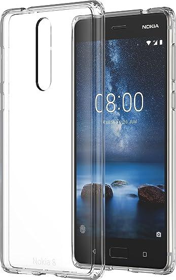 Nokia Hybrid Crystal Case CC-701 Cover Transparent: Amazon.es ...