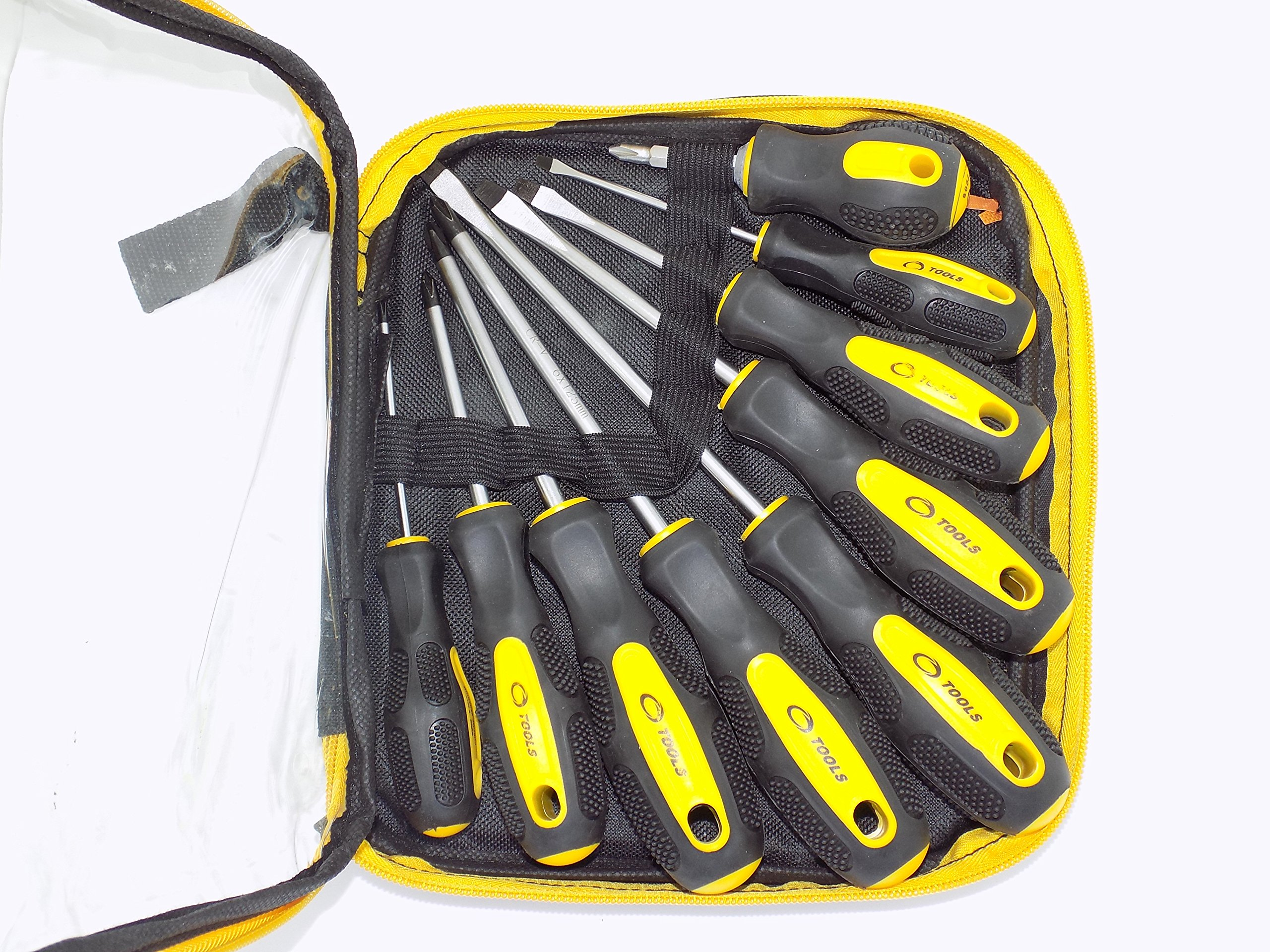 Screwdriver,Bolt driver,Tools Screwdriver Set, Yellow 9-Piece (9 piece is not changeable).Different specifications are suitable for almost all product installation