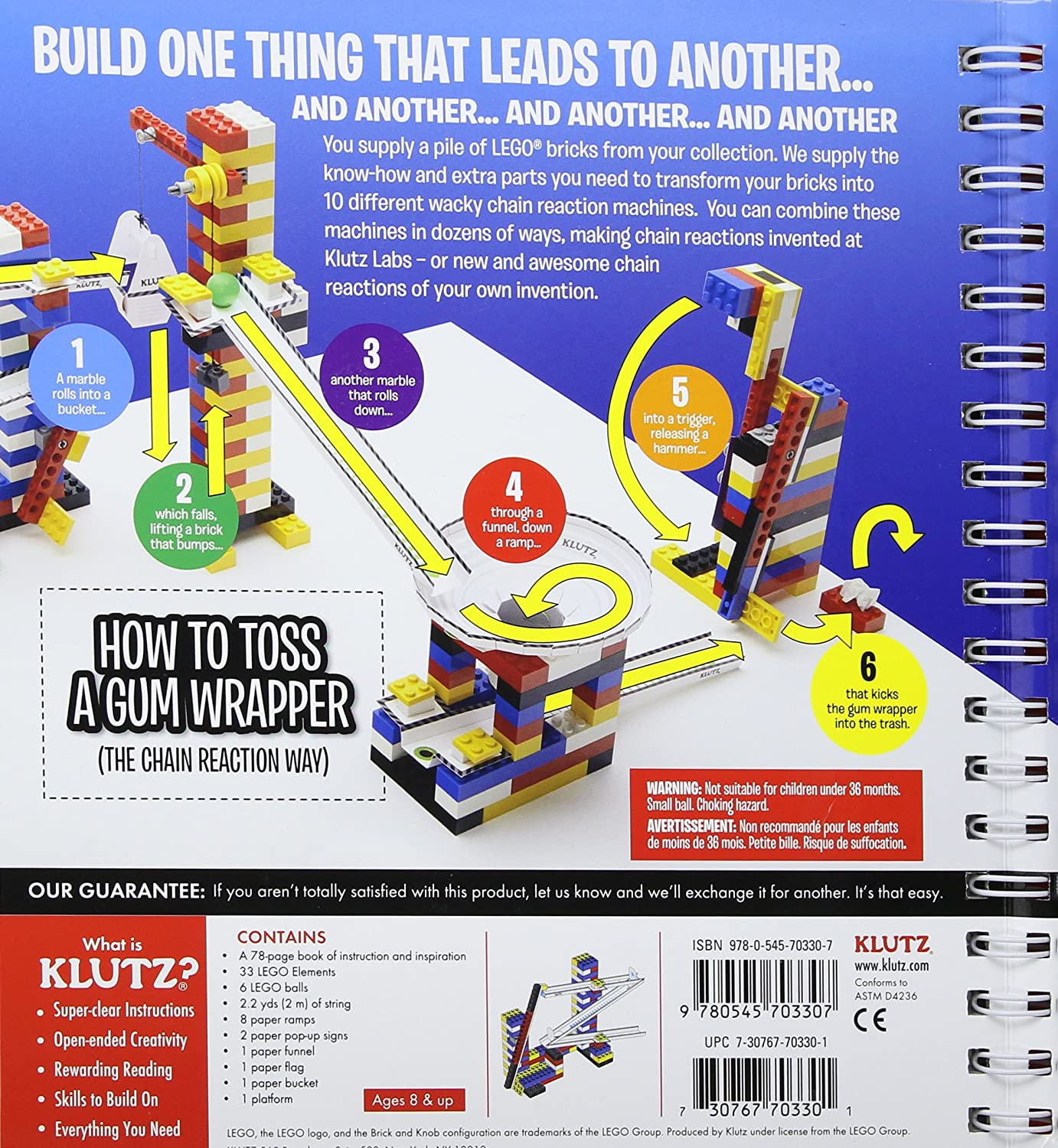 Amazoncom Klutz LEGO Chain Reactions Craft Kit Pat Murphy And - 16 imaginative lego ads that celebrate the power of fantasy 2
