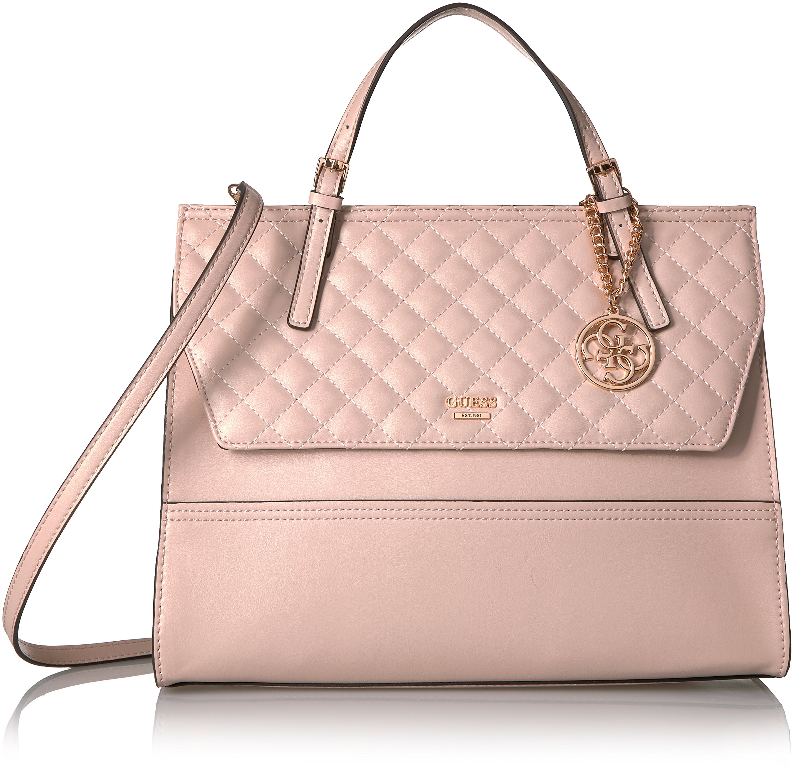 GUESS Huntley Top Handle Flap, Blush
