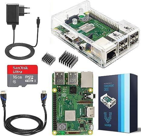 V Kits de Raspberry Pi 3 Model B + (Plus) Complete Starter Kit con ...