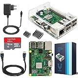 V-Kits Raspberry Pi 3 Model B+ (Plus) Complete Starter Kit Mit Klar Gehause Case- (EU Edition) -Enthalt: Raspberry Pi 3 Model B+ (Plus) mit 5 Wesentlich Zubehör