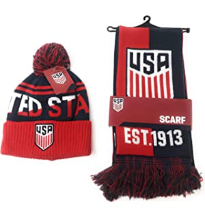 686ef07c1e4 USA Soccer Scarf and United States National Team Beanie Official Licensed  USMNT for Kids