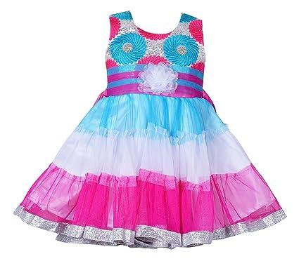 280ea322af79 Wish Karo Baby Girls Party Wear Frock Dress DN (fe2392pk