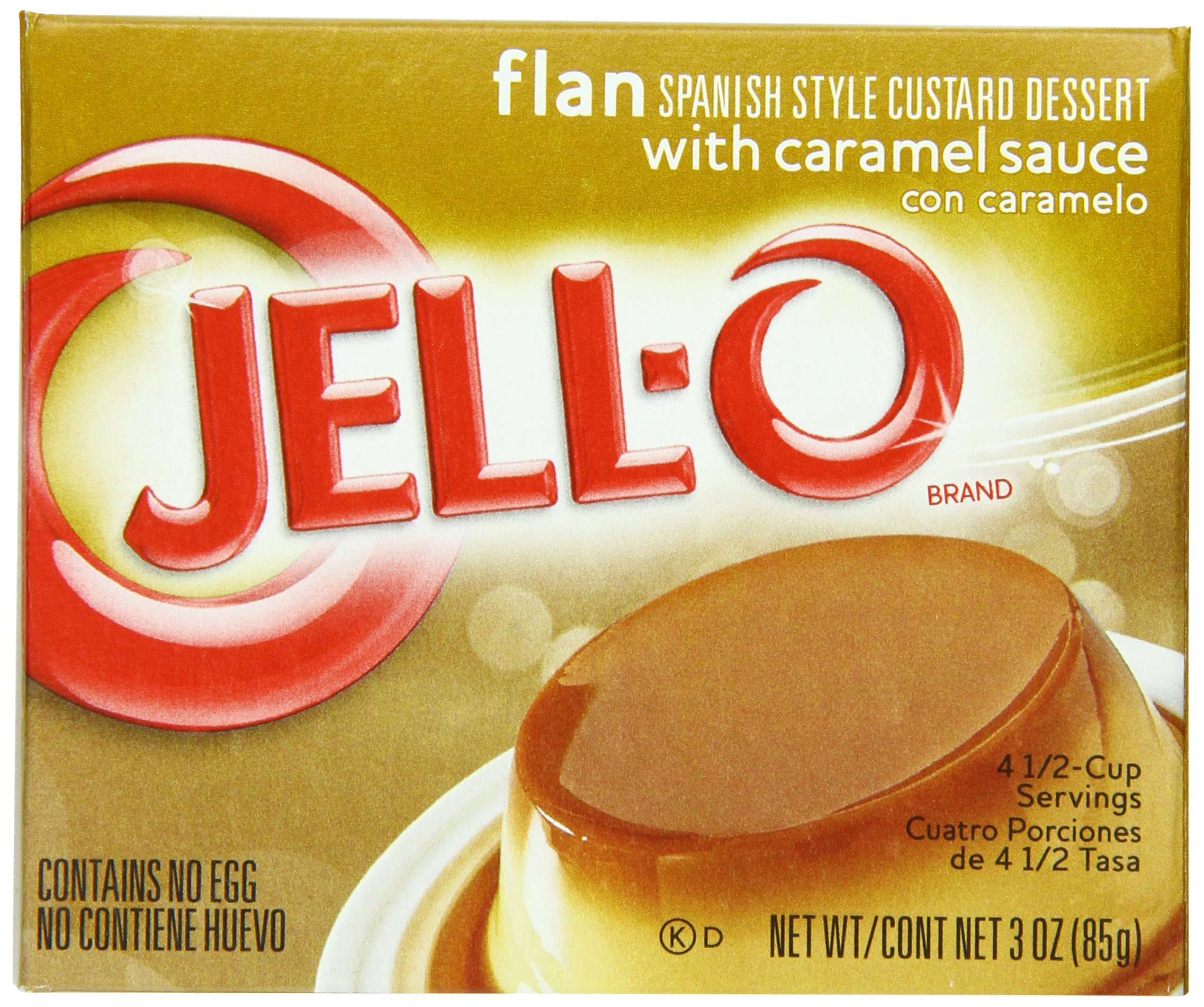 Jell-O Flan, 3-Ounce Boxes (Pack of 18)