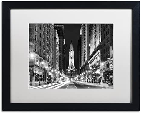 Amazon Com City Hall Philadelphia By Philippe Hugonnard White Matte Black Frame 16x20 Inch Home Kitchen