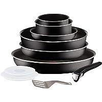 Tefal L2008502 Set de poêles et casseroles - Ingenio 5 Essential Noir 10 Pièces - Tous feux sauf induction