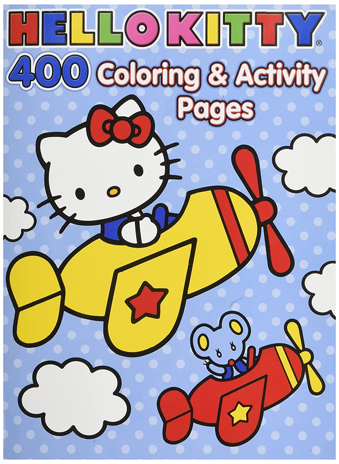 Amazon com hello kitty coloring book jumbo 400 pages featuring classic hello kitty characters toys games