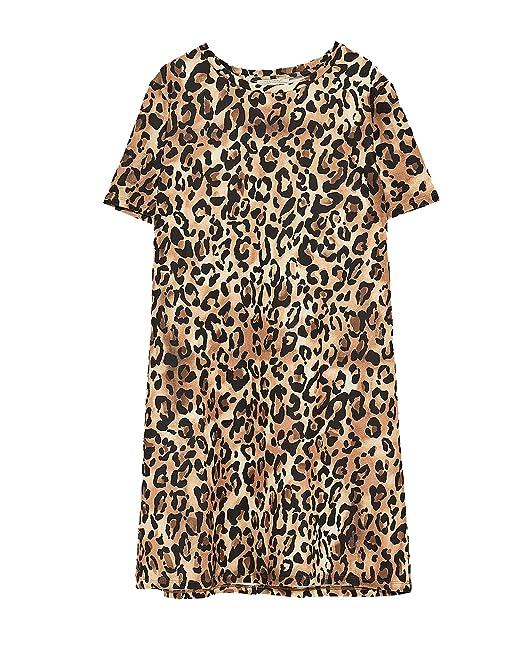 Zara - Vestido - para mujer marrón marrón Large: Amazon.es: Ropa y accesorios