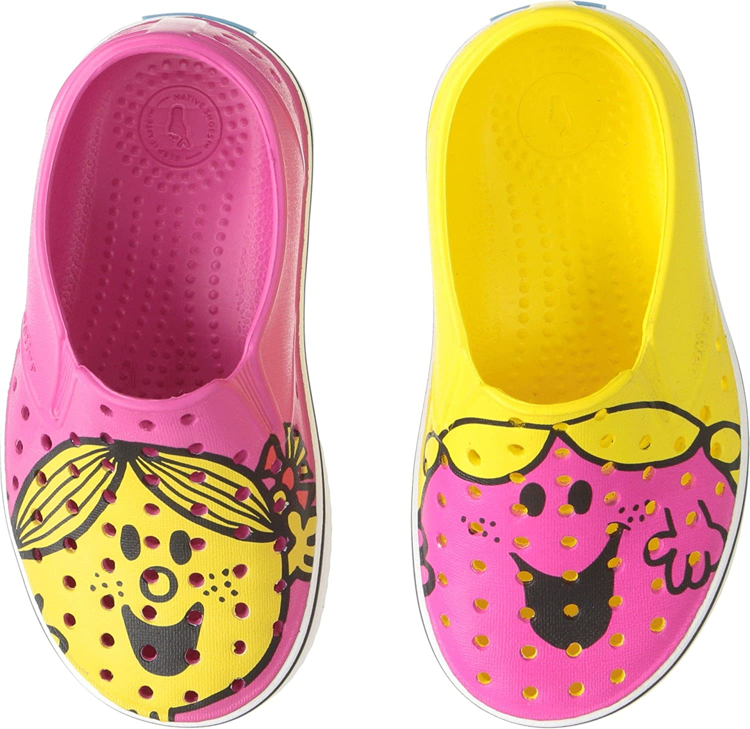 native Kids Shoes Womens Little Miss Chatterbox & Sunshine Miles Print (Toddler/Little Kid)