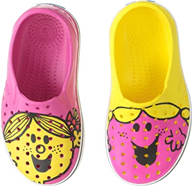 Amazon.com  native Kids Shoes Baby Girl s Little Miss Chatterbox   Sunshine  Miles Print (Toddler Little Kid) Pink Yellow 4 M US Toddler  Shoes d973b91801