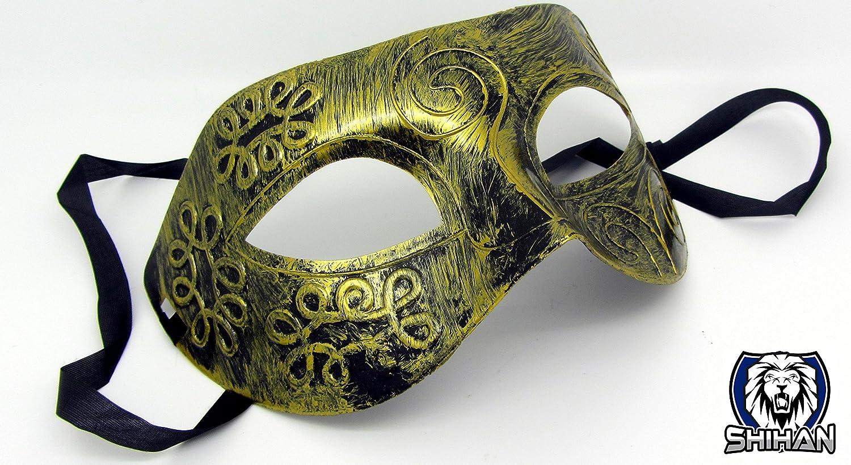 Shihan Dorado antiguo veneciano máscara de Mardi Gras ...