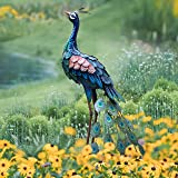 Peacock Statue Garden Yard Art Decor Metal Statue for Outdoor Patio Lawn Backyard Decoration