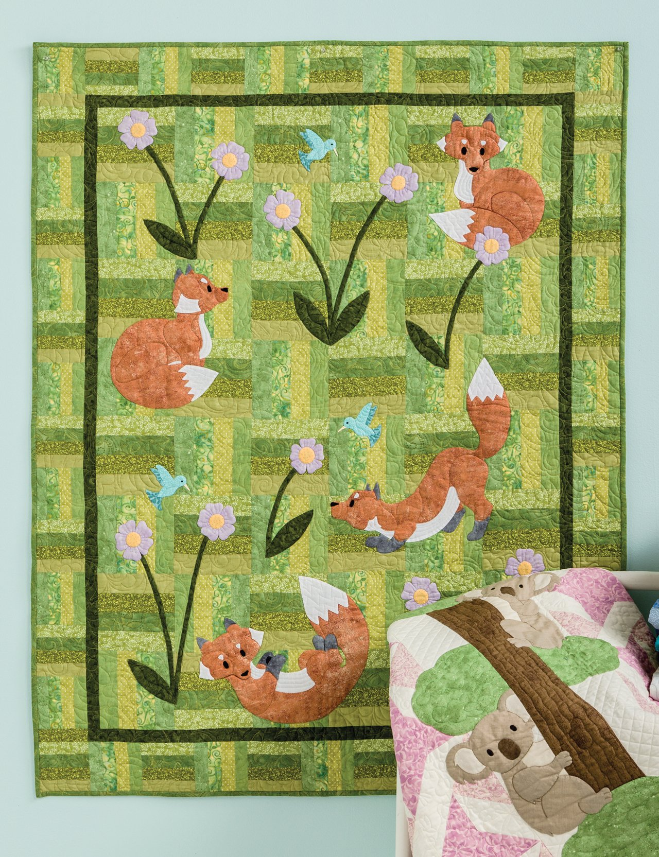 Animal Parade Adorable Applique Quilt Patterns For Babies