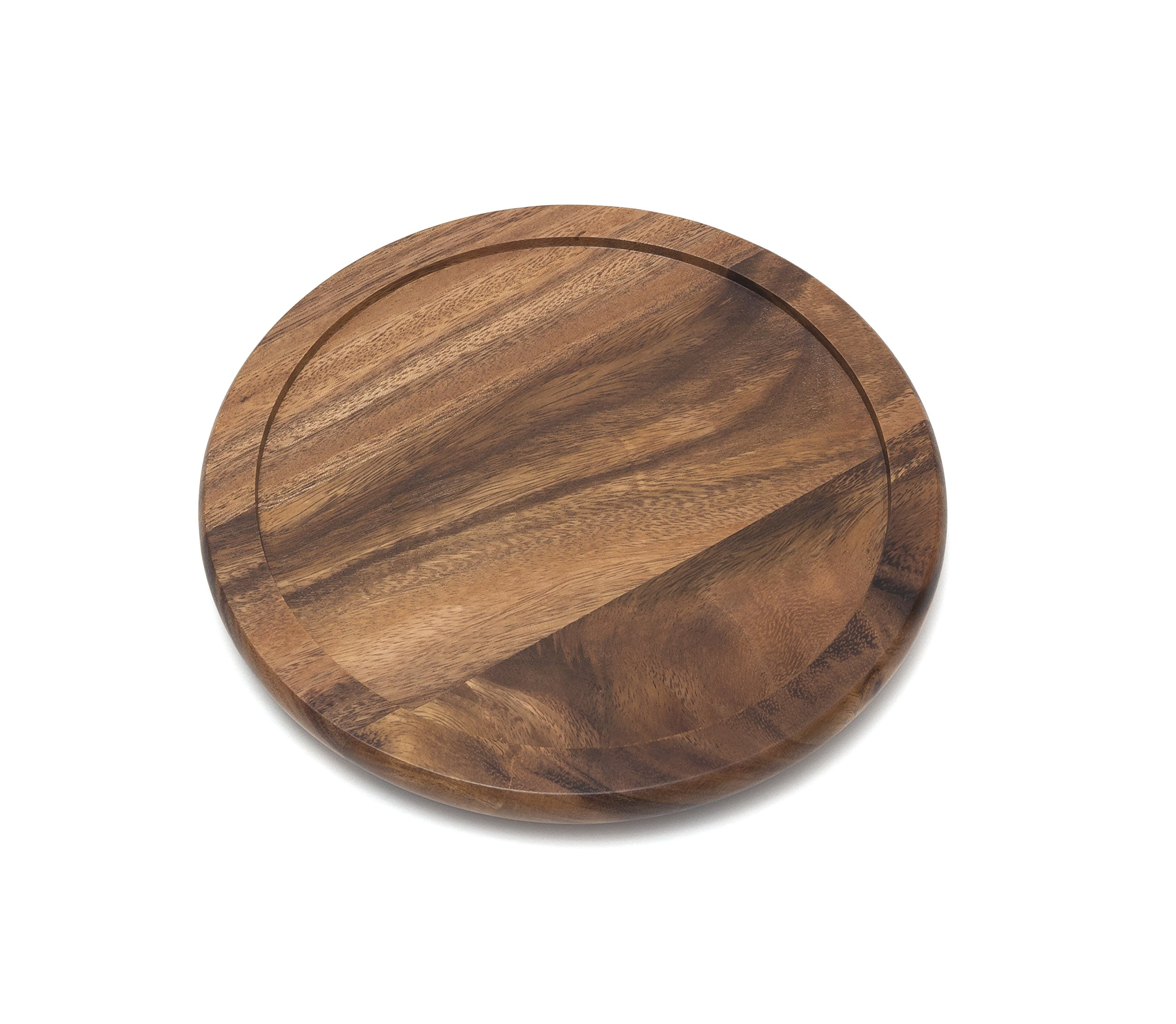 Lipper International 1301 Acacia Wood 10'' Kitchen Turntable