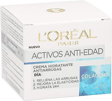 L'Oreal Paris Skin Expert - Crema de Día Hidratante Anti-Edad, Tratamiento con Colágeno para Pieles de +35 - 50 ml