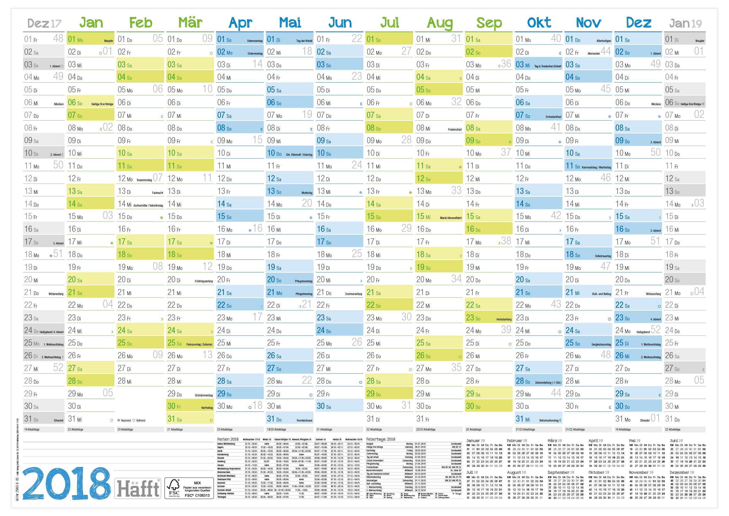 Amazon.de: Wandkalender - Kalender, Planer & Organizer: Bürobedarf ...